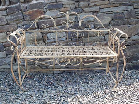french garden bench antique metal furniture outdoor