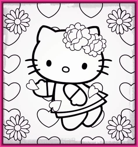 dibujos infantiles kitty dibujo kitty para colorear e imprimir para entretenerte