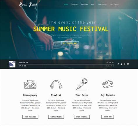 theme music club 50 best music wordpress themes templates design