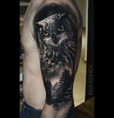 owl tree tattoo designs owl forest best design ideas