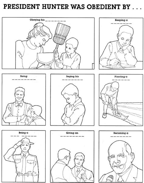 lds coloring pages obedience lesson 30 i can be obedient lds lesson ideas