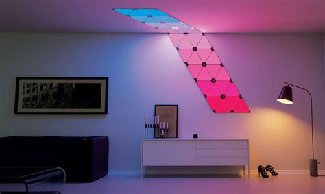light up wall panels add a splash of living paint to your walls with nanoleaf