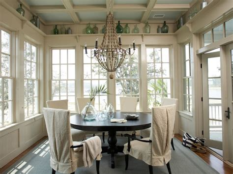 Sunroom Dining Room with Sunroom Design Cottage Dining Room Tammy Connor Interior Design