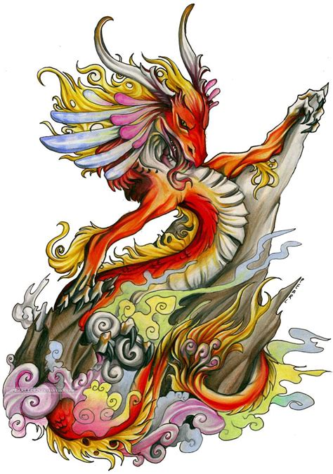 coloured dragon tattoo designs colored design design ideas
