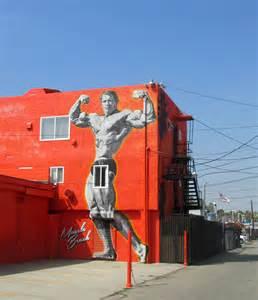 Big City Bright Lights Arnold Schwarzenegger Muscle Beach Mural Big Cities