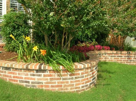 brick flower bed raised flower bed ideas photograph brick raised flower bed