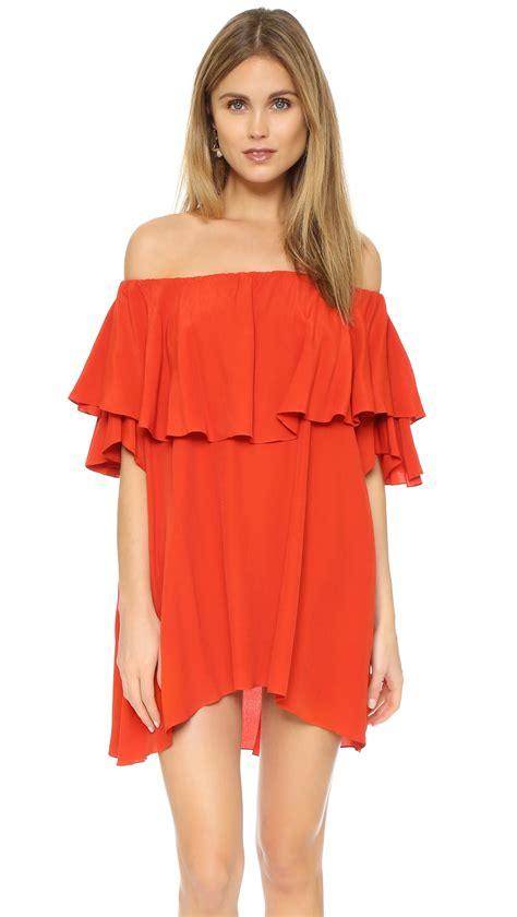 Sale Dresses 100 At Shopbop Part 2 by Mlm Label Maison Shoulder Dress In Lyst