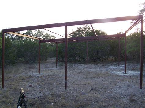 Steel Pole Barn Custom All Steel Pole Barn Pipe Creek Carport