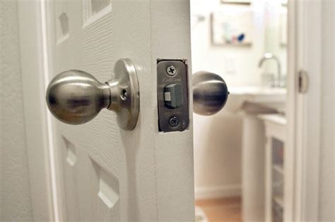 How To Unlock A Bathroom Door From The Outside how to unlock a locked bathroom door with pictures ehow
