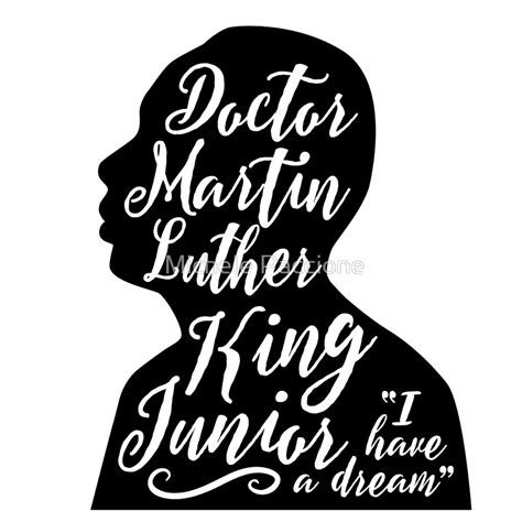 Martin Luther King Jr Silhouette Printable
