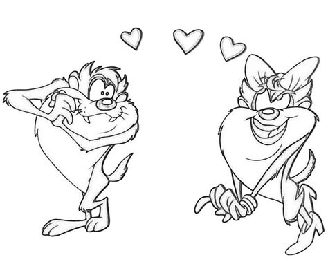 tasmanian devil coloring page coloring home