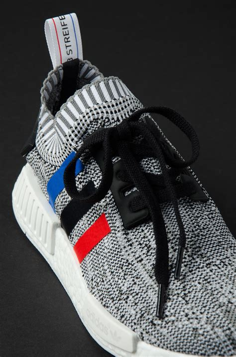 Adidas Rune Prime 1 here s the light grey version of the adidas nmd r1 primeknit tri color pack kicksonfire