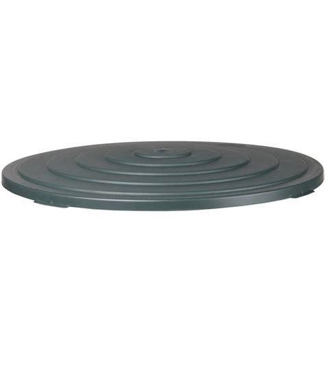 deckel für feuerschale 100 cm kunststoff deckel f 252 r regentonne 500 l rund dunkelgr 252 n