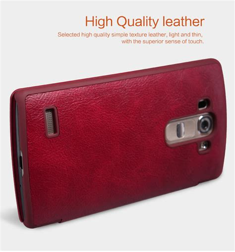 Lg G4 Beat Mini Nillkin Qin Leather Flip Cover Dompet Casing nillkin qin series leather for lg g4 beat g4s