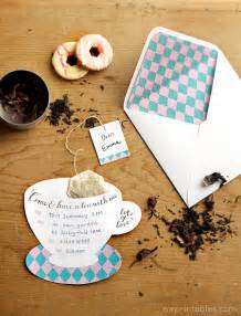 freebies for crafters tea invitations