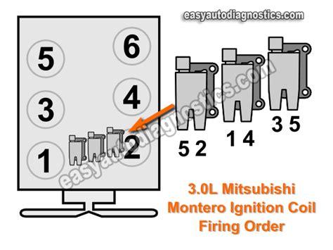 Injector Asli Mitsubishi Galant V6 24 Limited 1997 2004 3 0l v6 firing order ignition coil spark
