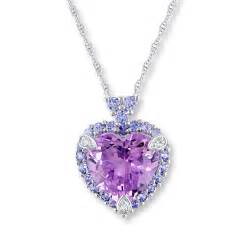 3 Initial Monogram Necklace Kay Amethyst Heart Necklace Tanzanites Amp Diamonds 10k White Gold