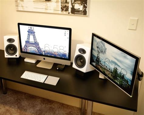 Computer Desk For Imac 27 Mac Setup Dual Display Imac 27 And A Decked Out Pc