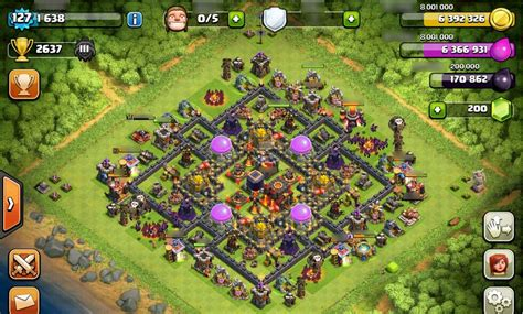 editing layout coc defense base at th 10 pic 33 gamatrix coc th 10