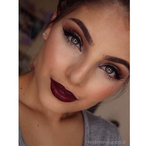 dark eyebrow trend the dark brow beauty trend makeup red lips cat eyes and