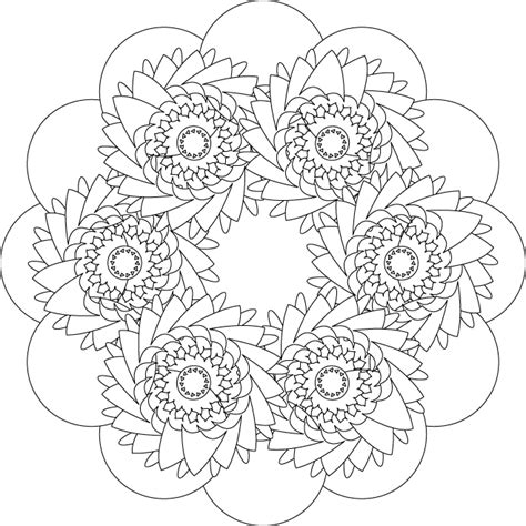 Mandalas Coloring Part 3 Flower Design Coloring Pages
