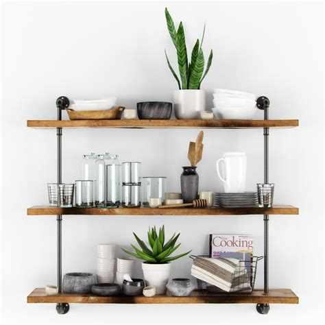 Decorative Kitchen Shelves by 3ds Decorative Kitchen Set Shelves