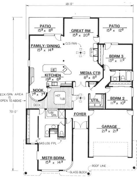 feng shui floor plan 3 bedrms 2 baths 2228 sq ft