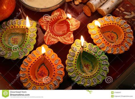 diwali decorating at home raw ayurveda diwali thali with decorated diya stock image image 21990947