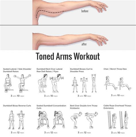 7 Great Exercises To Tone Your Arms by Yeah We Workout Workouts Exercises More