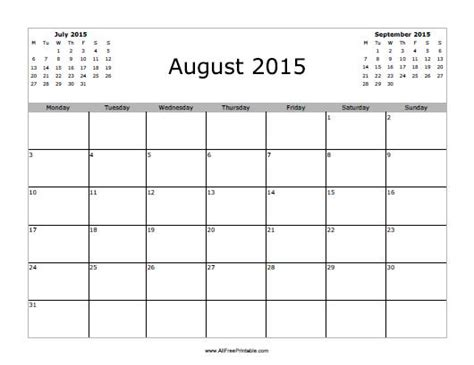 printable august 2015 calendar august 2015 calendar free printable allfreeprintable com