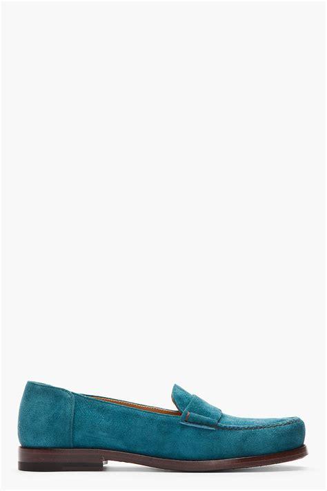 Pedro Loafers Teal Jil Sander Shoes S Jil Sander Footwear At Fashion