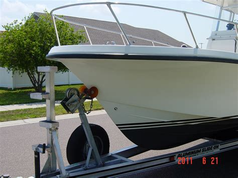 fishing boat trailer steps custom ladder on boat trailer the hull truth boating