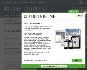 san luis obispo tribune website begins charging for news