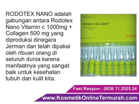 Suntik Vit C Plus Collagen suntik putih vitamin c pemutih badan rodotex nano hijau