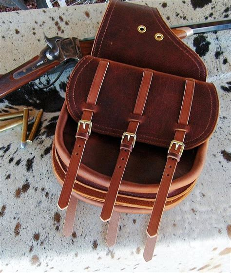 Handmade Leather Saddlebags - leather traditional style cavalry saddlebags