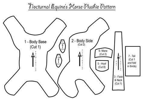pattern horse drawing horse plushie pattern by nocturnalequine on deviantart