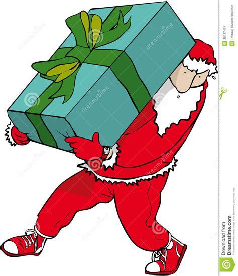 big gift santa stock vector image of christmas huge