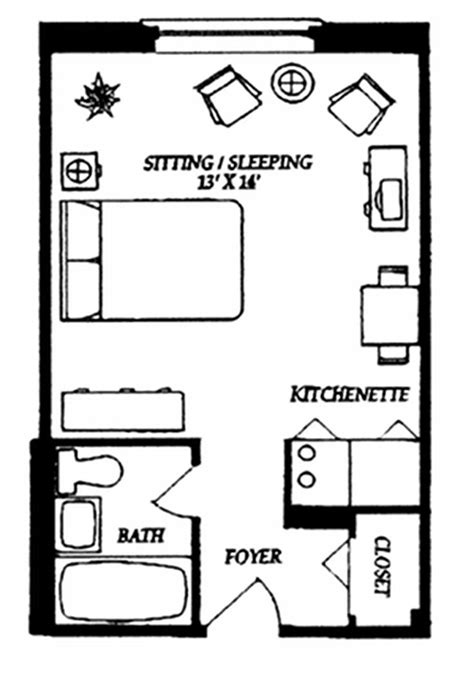 One Bedroom Apartment Designs Exle The 25 Best Studio Apartment Plan Ideas On Pinterest Studio Apartment Floor Plans Studio