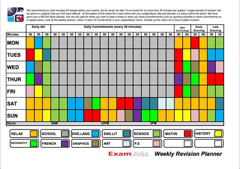 revision template revision timetable template new calendar template site