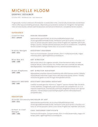 Simple Resume Templates 75 Exles Free Download Clean Resume Template