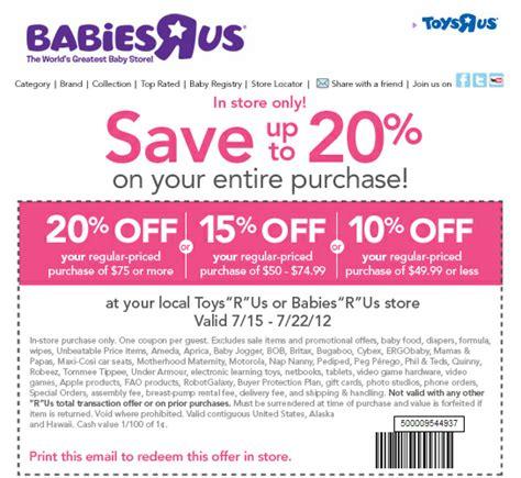 20 off babies r us printable coupon 2013 babies r us 10 20 off printable coupon