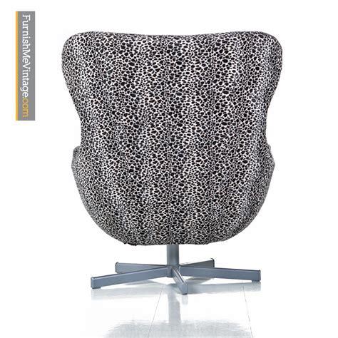 egg chair vintage sale egg chair set arne jacobsen style leopard print swivel