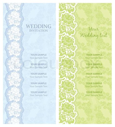 Hochzeitseinladung Design Vorlage Hochzeitseinladung Vorlage Vektor Design Vektorgrafik Colourbox