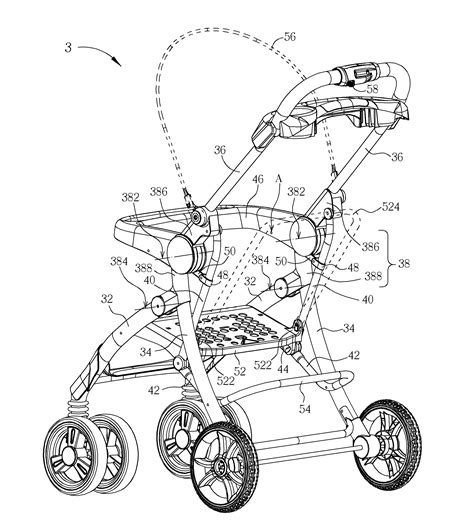 graco stroller parts diagram patent us8590919 stroller frame for foldable stroller