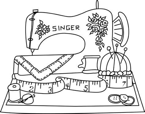 coloring book needle drop desenho de m 225 quina de costura para colorir tudodesenhos