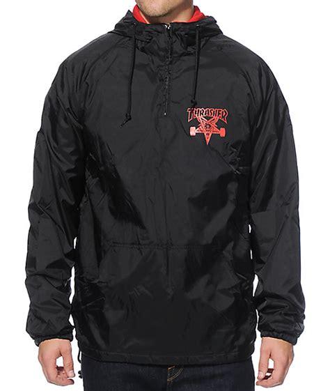 Jaket Trasher thrasher skategoat hooded coach jacket