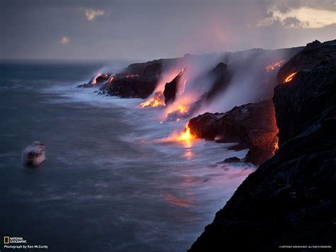 hawaiian lava boat tours cost lava on hawaii coast travel 365 national geographic