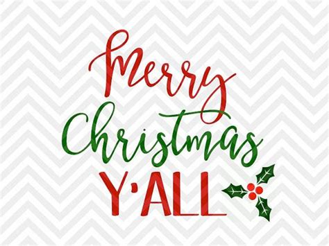 merry christmas yall svg file cut file cricut
