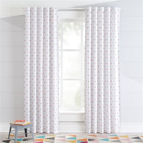 nursery curtains next prints orange triangle blackout curtains crate and barrel