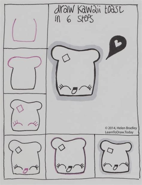 Easy Things To Draw Step By Step by 40 Easy Step By Step Drawings To Practice Bored